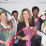 Hoola hoopers from California conduct a two-day workshop at Jaipuria Institute of Management Noida.