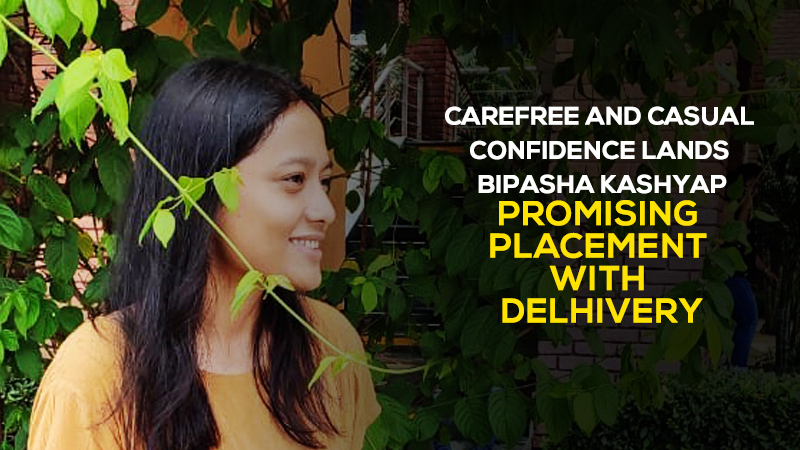 Carefree and casual confidence lands Bipasha Kashyap promising placement with Delhivery
