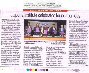 Jaipuria institute celebrates foundation day
