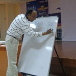 EQ or IQ – Dr. J. P Upadhyay, Director – Japruia Indore, engages the students on one of the most important management debates