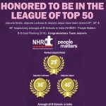 Jaipuria Institute of Management honoured to be in the league of top 50 B schools in the country by NHRDN & People Matters B School Ranking 2016