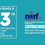 Jaipuria Noida leading at 43 amongst top management Institutes in India by NIRF, Ministry of HRD, Govt. of India (2017)