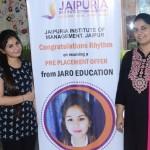Jaipuria Institute of Management, Jaipur's student Rhythm's journey with Jaro Education, Mumbai