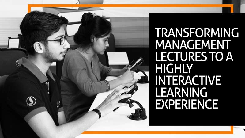Transforming Management Lectures to a highly interactive learning experience