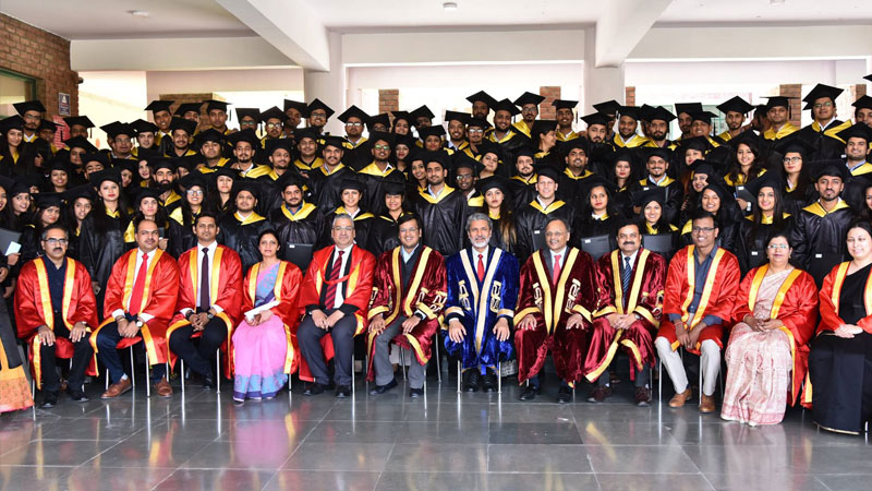 174 Graduates felicitated with PG Diploma by Shri Rajeev Dubey, Group President (HR & Corporate Services) & CEO (After Market Sector) Member of Group Executive Board, Mahindra & Mahindra at 12th Annual convocation