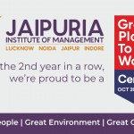 For the 2nd consecutive year Jaipuria Institute of Management recognized with coveted Great Place to Work Certification