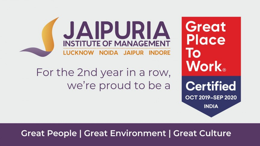 Jaipuria Institute of Management - Great Place to Work 2019