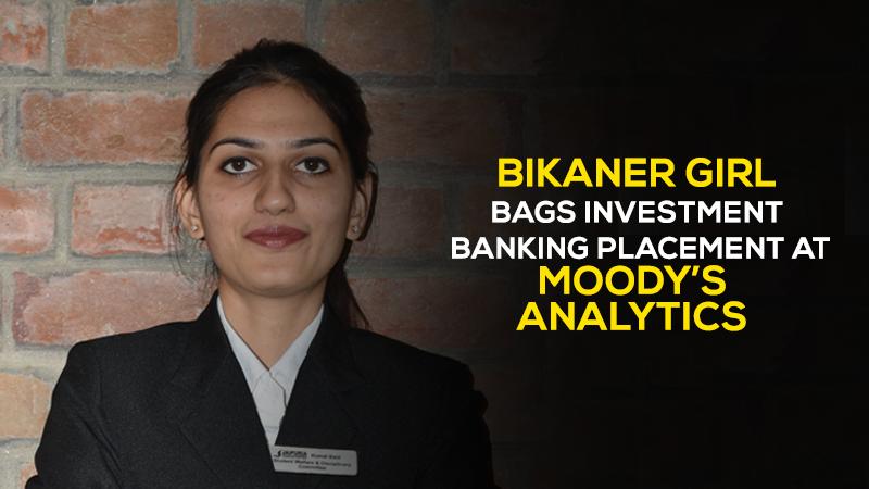 Bikaner girl – Komal Baid of Jaipuria Jaipur bags Investment Banking placement at Moody's Analytics