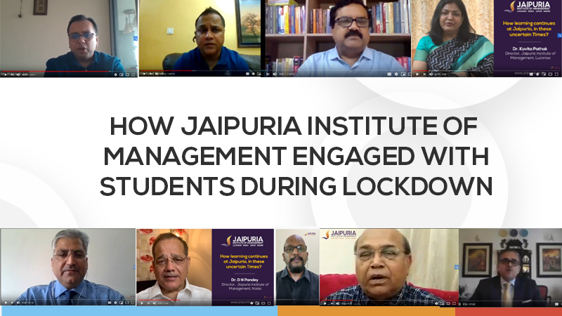 Jaipuria Institute of Management engagement with PGDM students During Lockdown