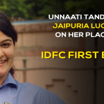 Raring to execute her PGDM learning into practice,  Unnaati Tandon' of Jaipuria Lucknow on her placement with IDFC First Bank