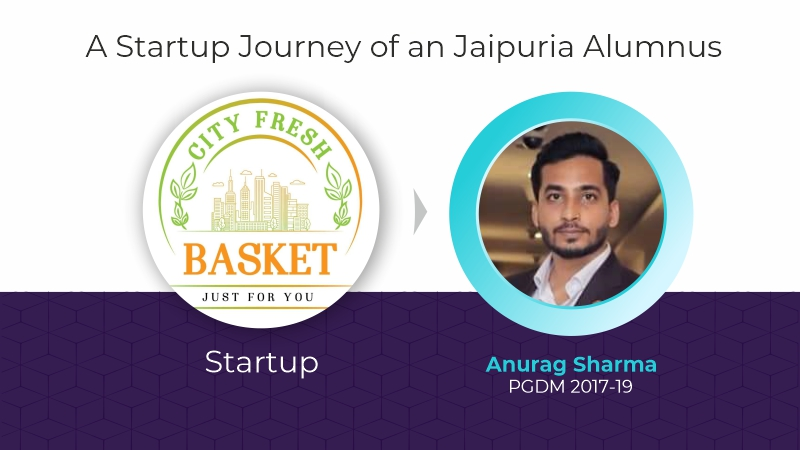 CITY FRESH BASKET- A Startup Journey by Anurag – an alumnus of Jaipuria Lucknow