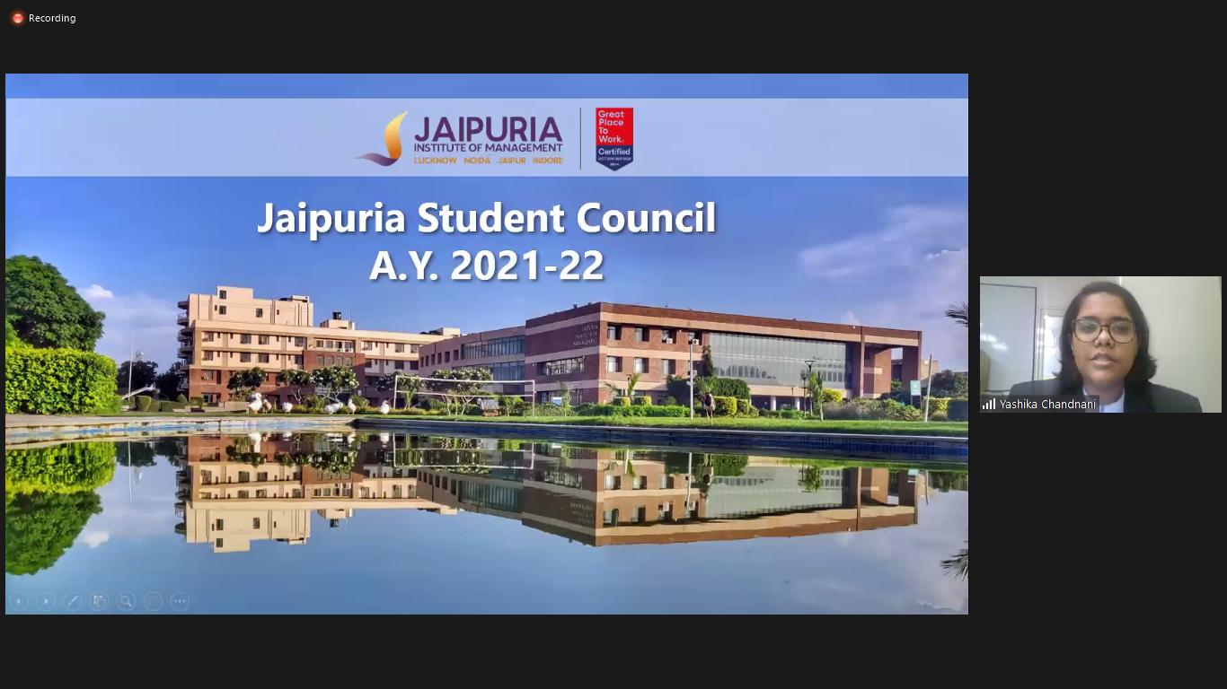 Orientation and Induction Program at Jaipuria Institute of Management, Jaipur