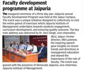 Faculty development programme at Jaipuria