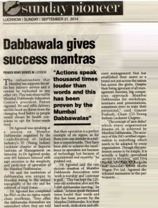 Dabbawala gives Success Mantras