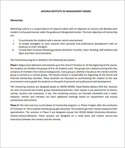 Mentorship-Policy